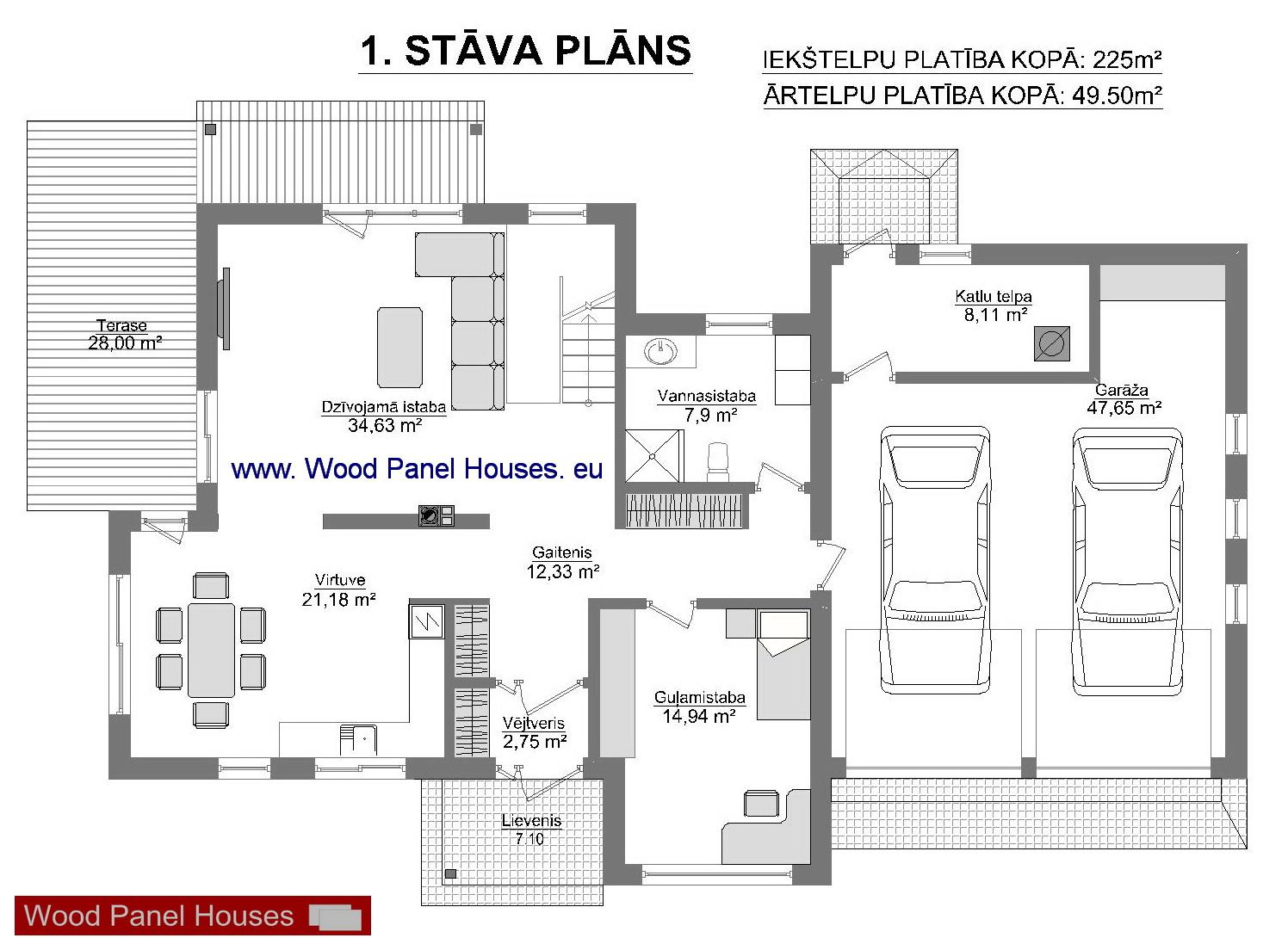 mājas 1 stāvs
