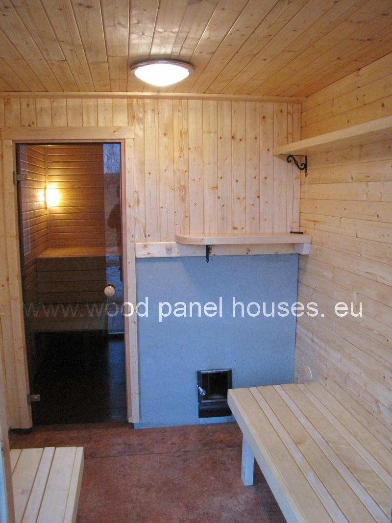 prodaction of sauna