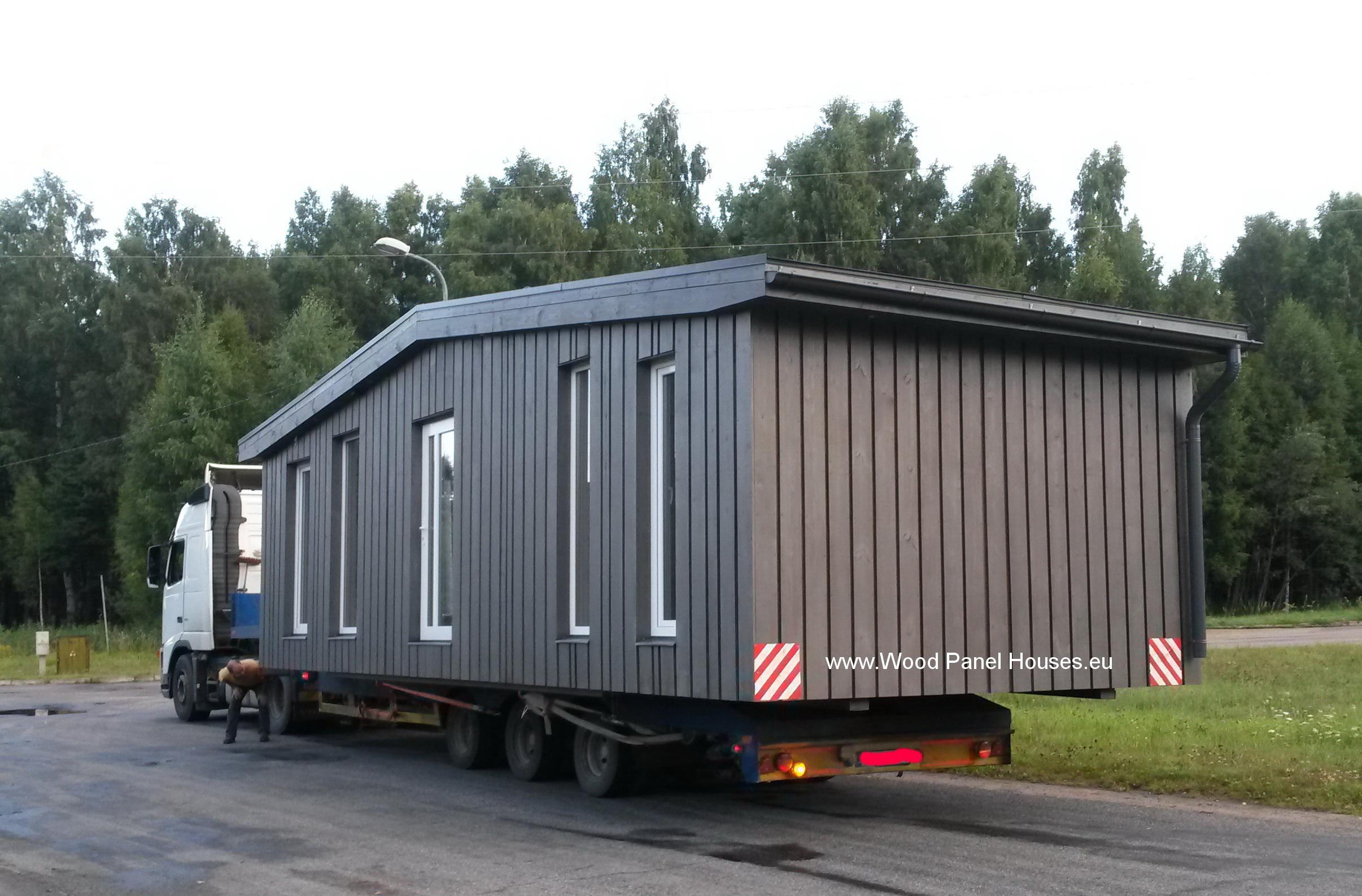 moduļu māju transports