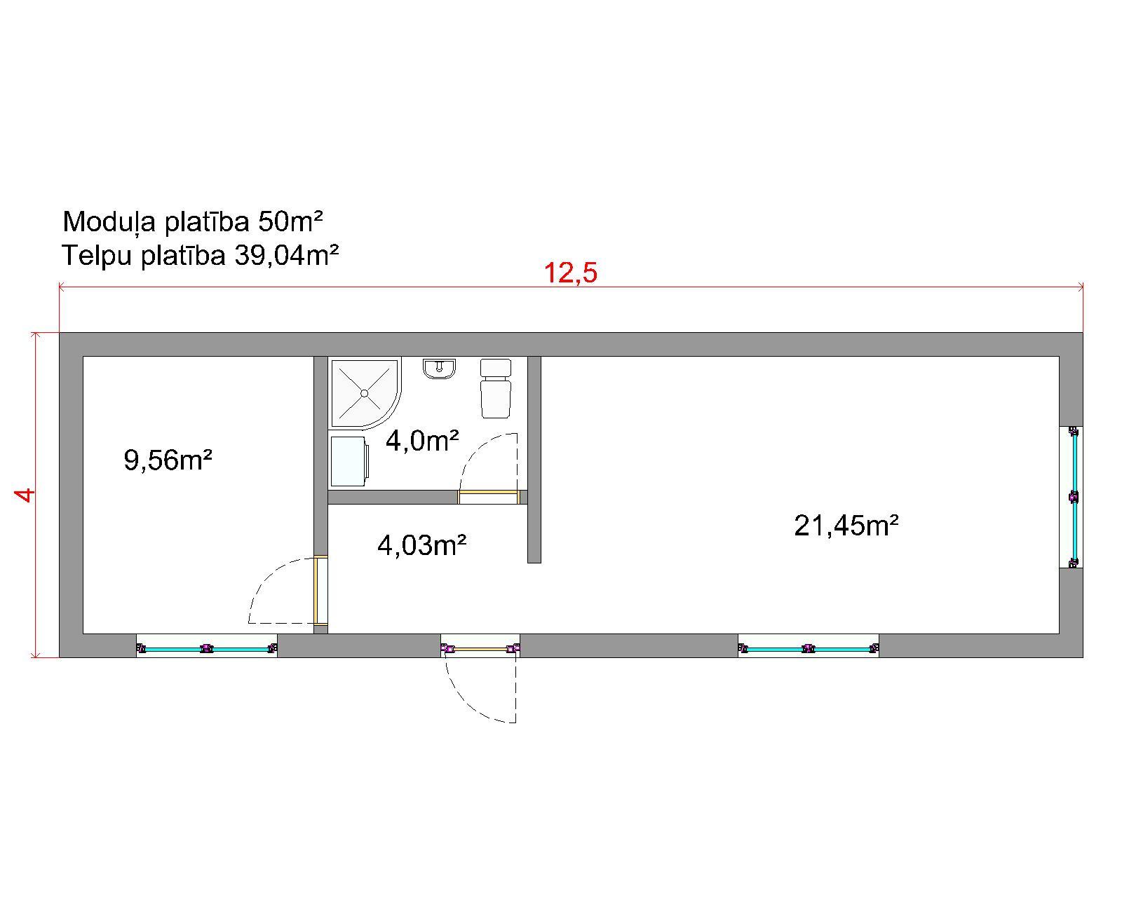moduļu māju plānojumi