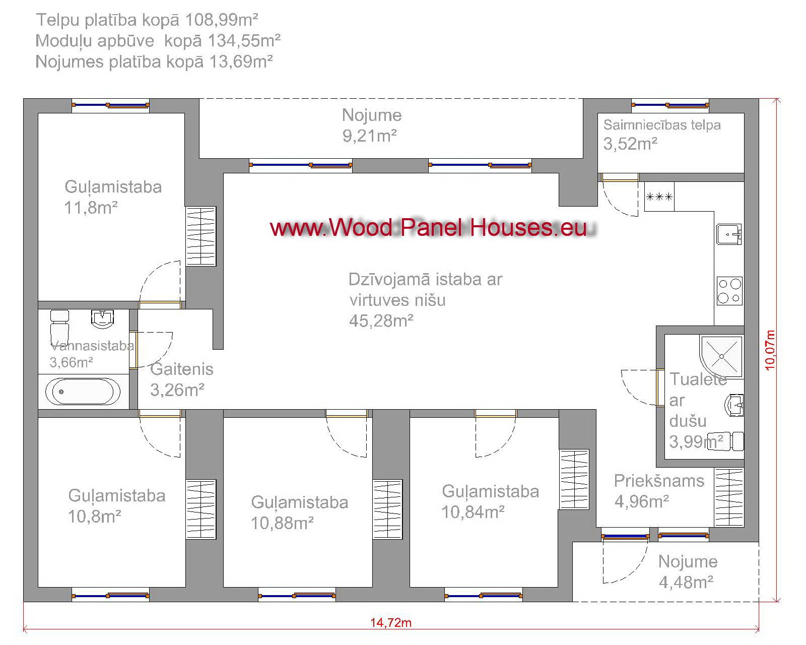 moduļu mājas cena