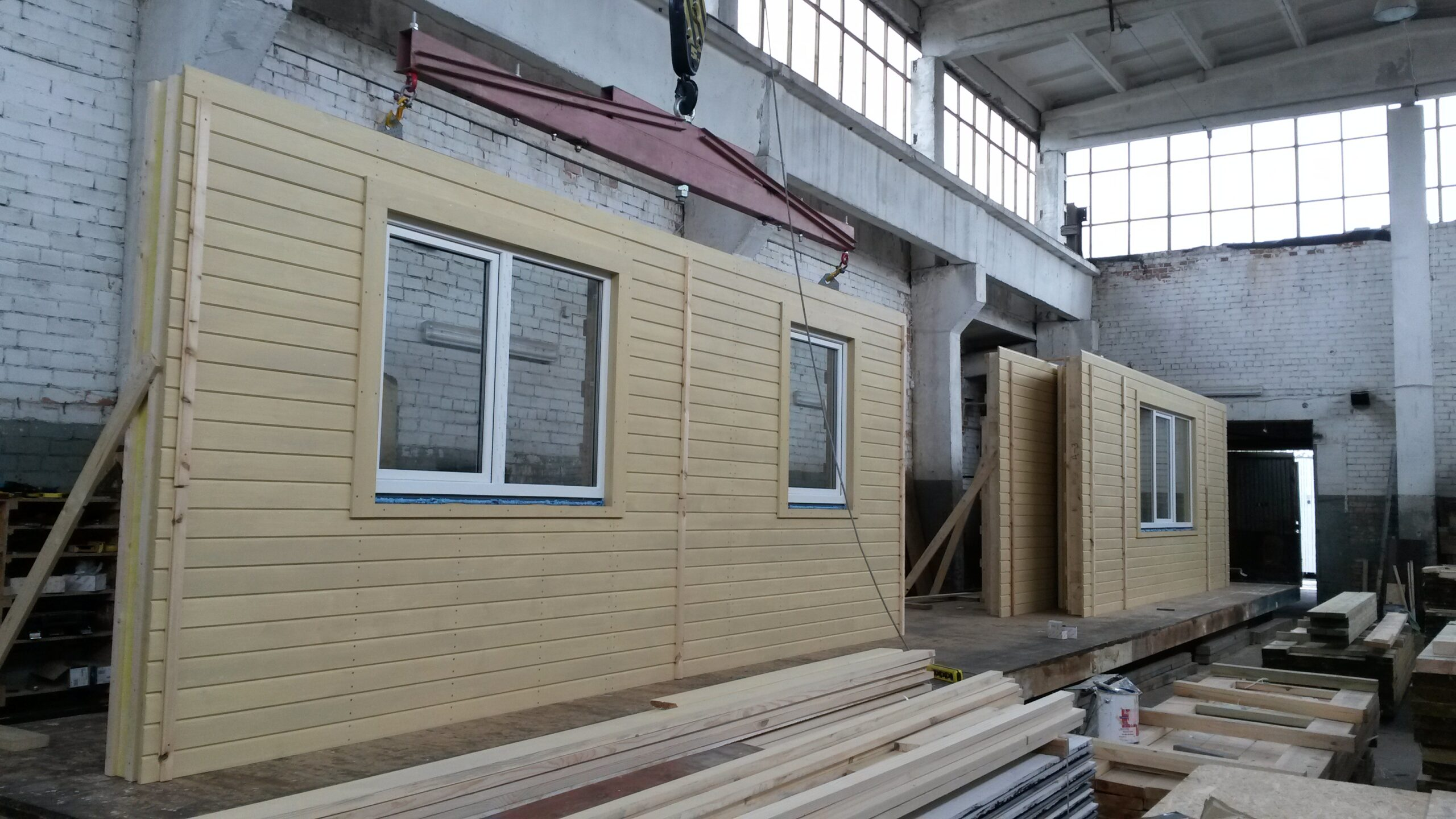wooden panel houses