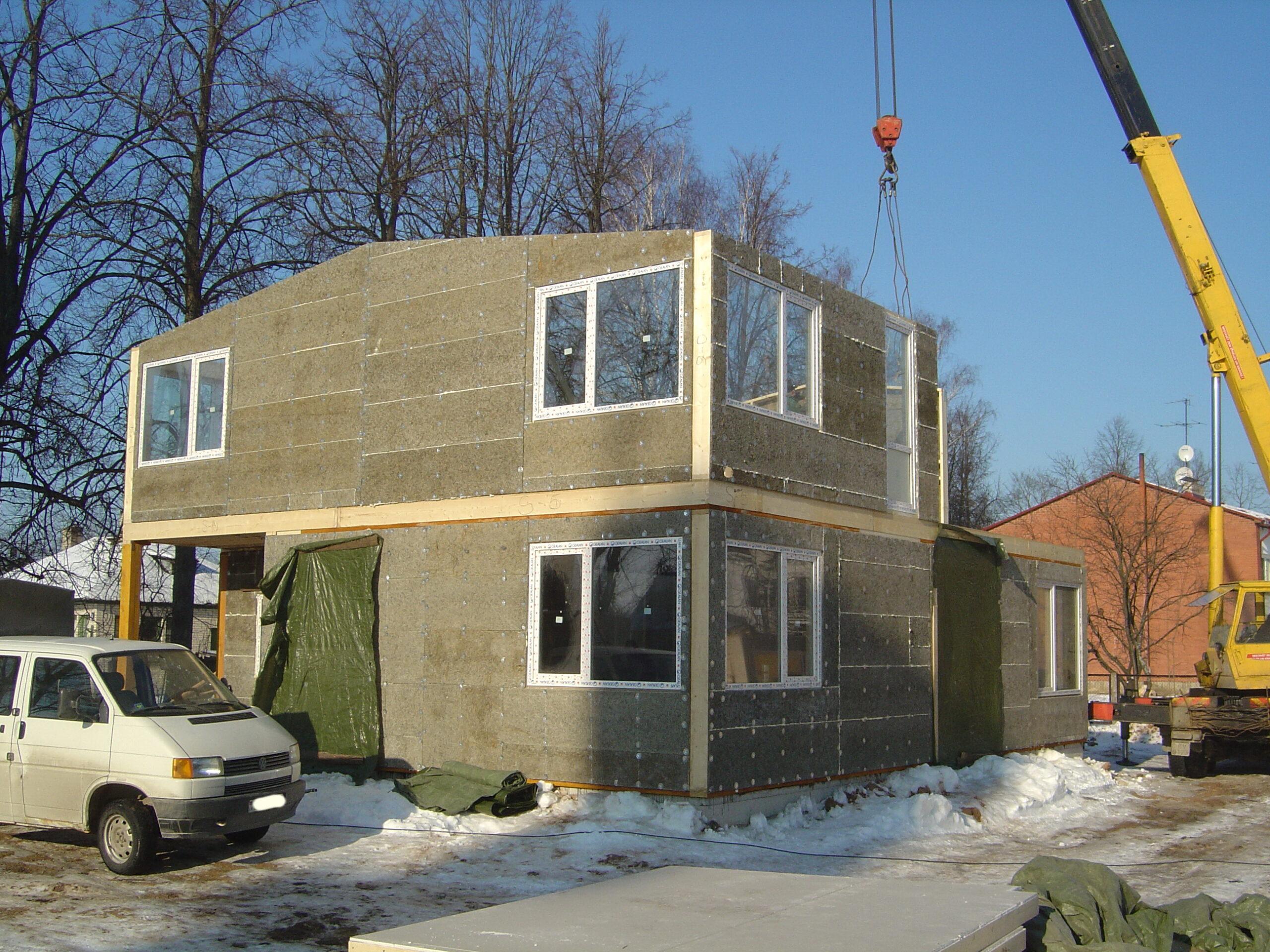 деревянно каркасно панельный дом