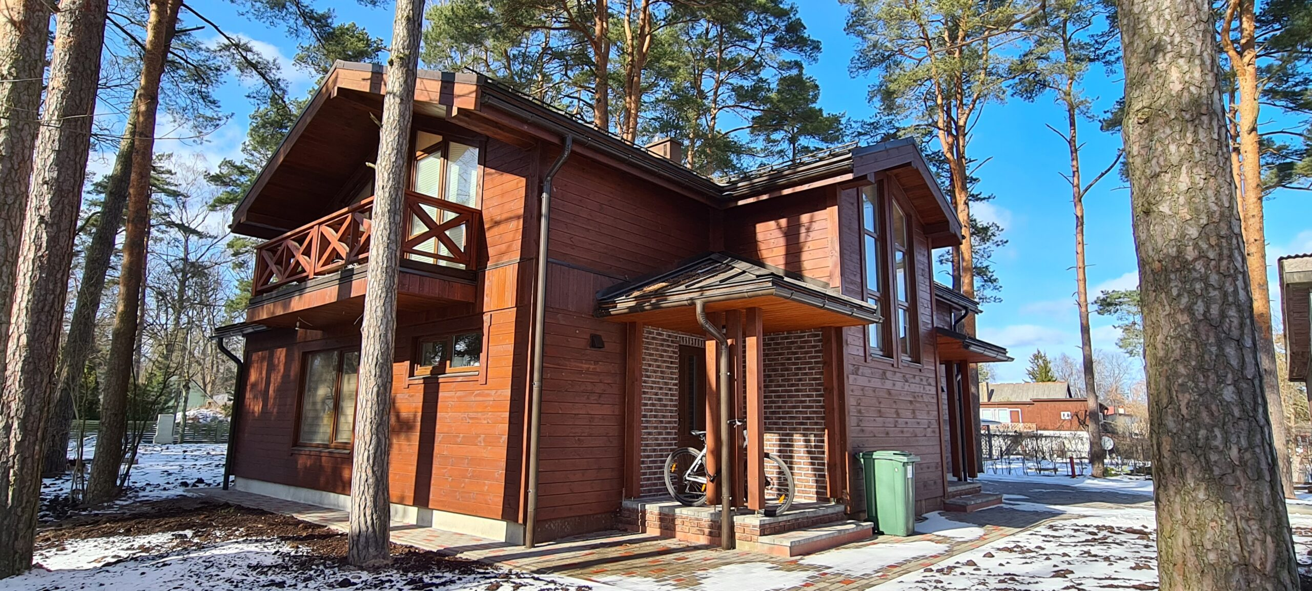 деревянный панельный дом